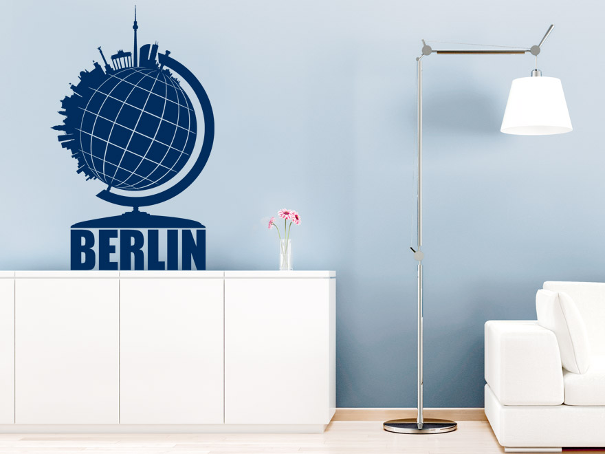 berlin wandtattoo globus berlin von. Black Bedroom Furniture Sets. Home Design Ideas