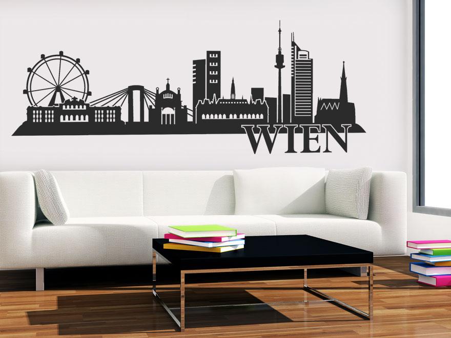stadt wandtattoo wien skyline von. Black Bedroom Furniture Sets. Home Design Ideas