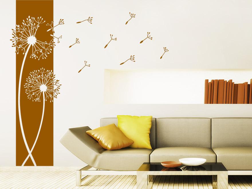 banner pusteblumen wandbanner von. Black Bedroom Furniture Sets. Home Design Ideas