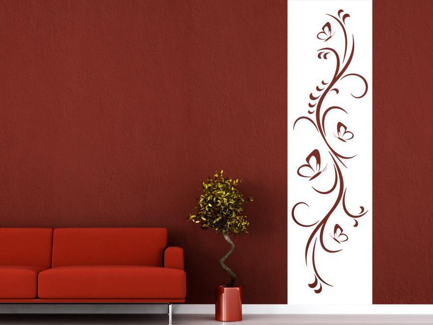 Banner Ornament mit Schmetterlingen Wandbanner von Wandtattoo.net