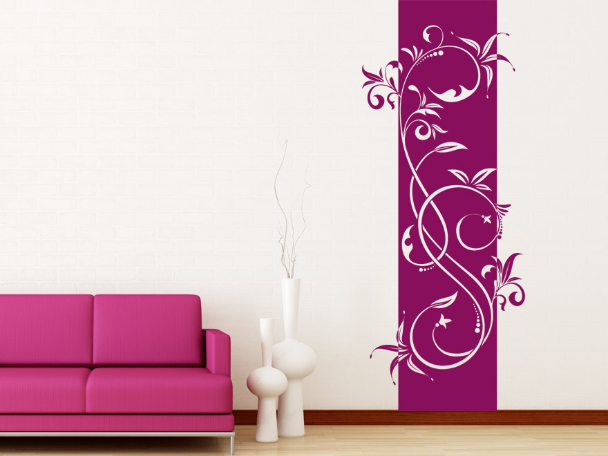 banner geschwungenes ornament wandbanner von. Black Bedroom Furniture Sets. Home Design Ideas