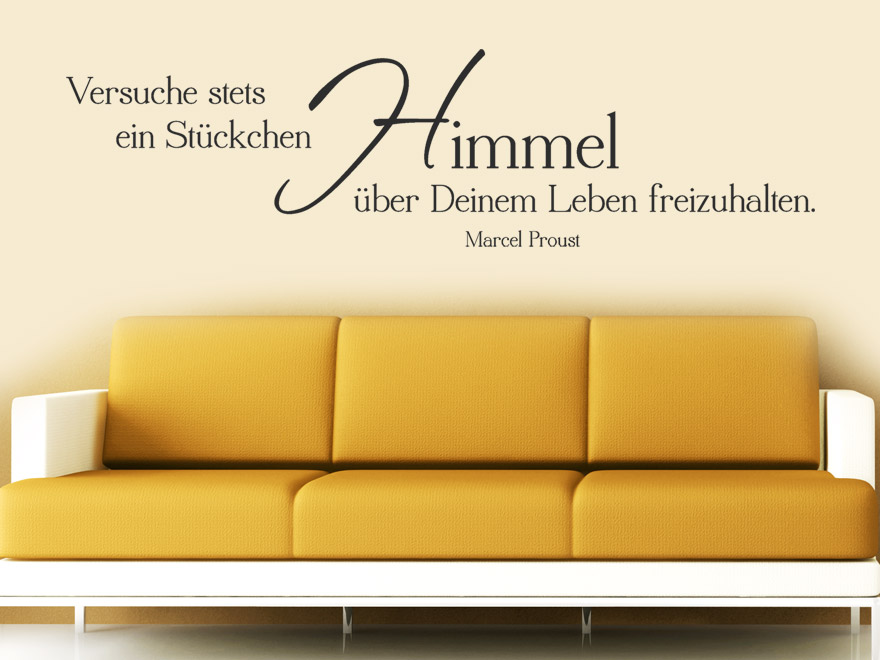 wandtattoo ein st ckchen himmel wandtattoo zitat marcel proust von. Black Bedroom Furniture Sets. Home Design Ideas