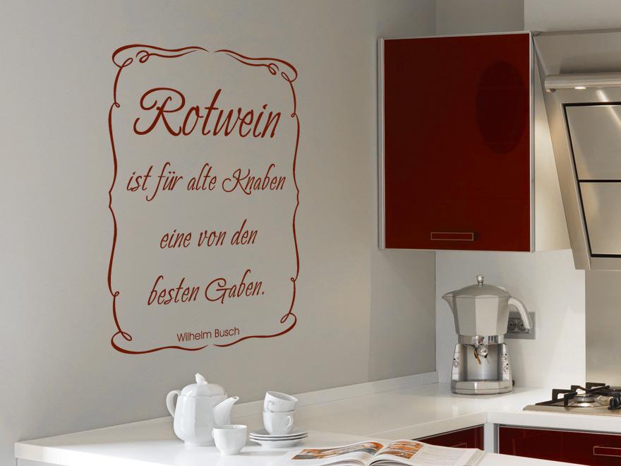 wandtattoo zitat rotwein von. Black Bedroom Furniture Sets. Home Design Ideas