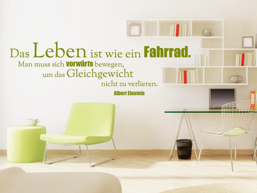 Wandtattoo Das Leben ist wie ein Fahrrad... Zitat Albert Einstein von wandtattoo.net