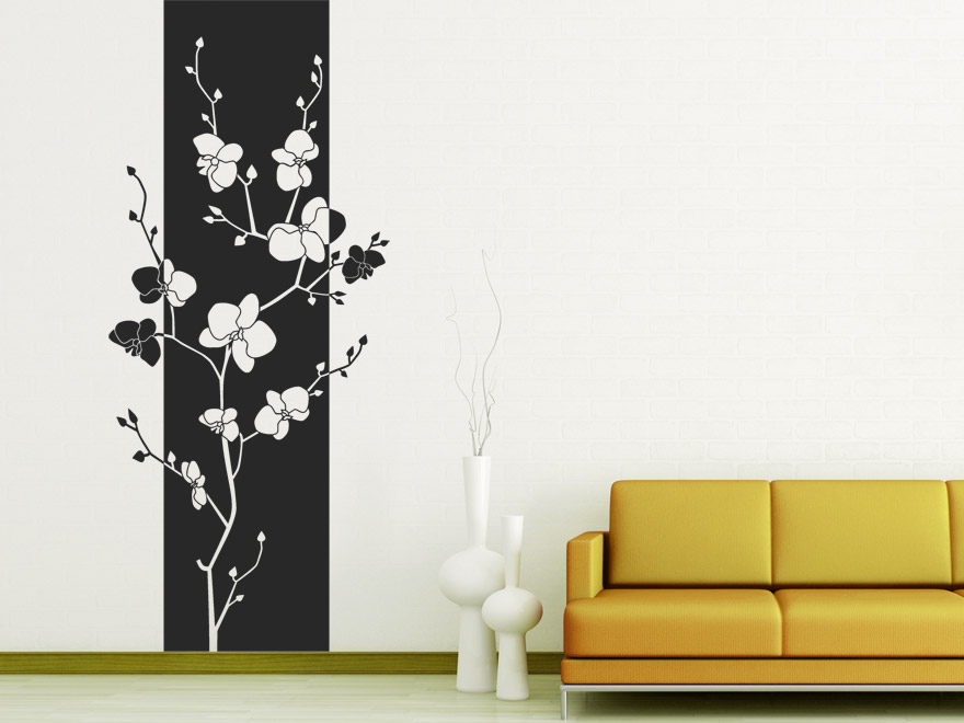 bl ten banner orchidee wandbanner von. Black Bedroom Furniture Sets. Home Design Ideas