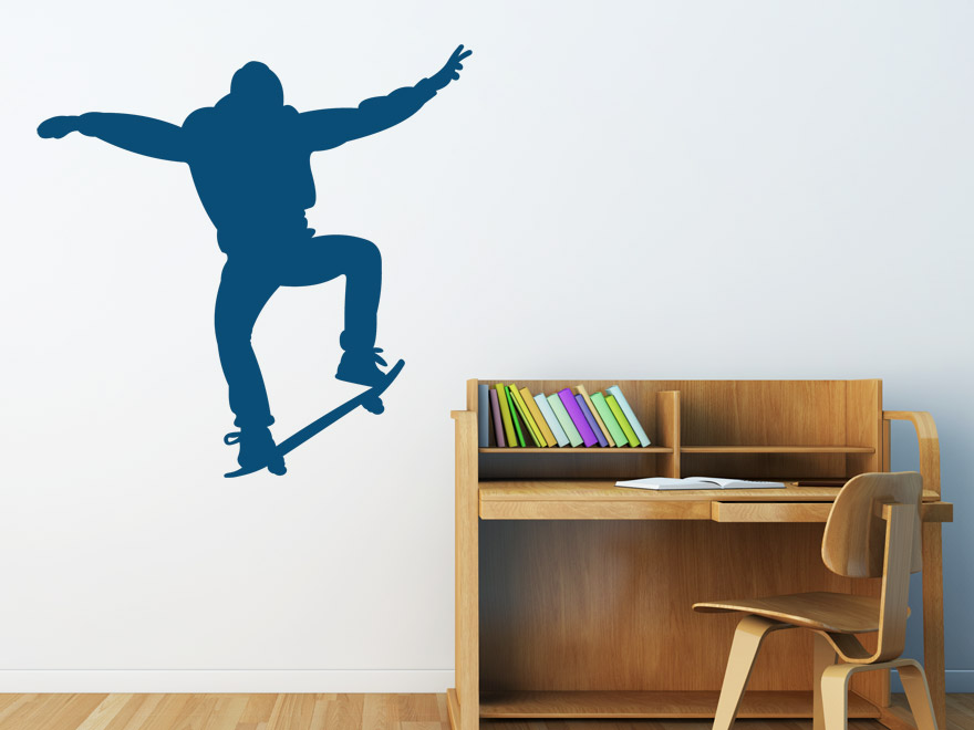 skater wandtattoo skateboarder von. Black Bedroom Furniture Sets. Home Design Ideas