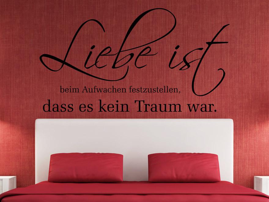 Romantisches Wandtattoo Liebe Ist Von Wandtattoo.net