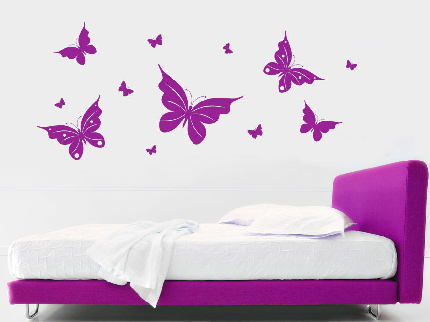 schmetterling wandtattoo fr hlingshafte schmetterlinge von. Black Bedroom Furniture Sets. Home Design Ideas
