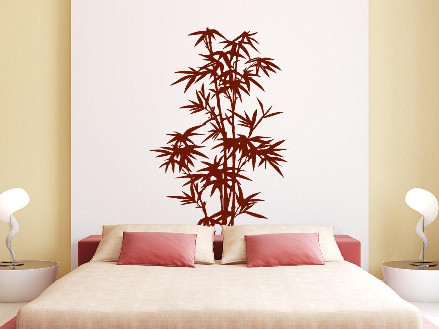 Pflanzen wandtattoo stilvoller bambus von - Schlafzimmer bambus ...