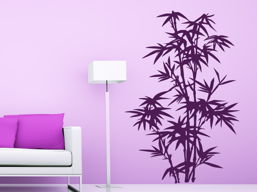 pflanzen wandtattoo stilvoller bambus von. Black Bedroom Furniture Sets. Home Design Ideas