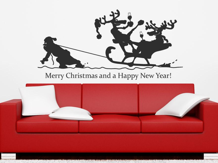 winter wandtattoo lustige rentiere von. Black Bedroom Furniture Sets. Home Design Ideas