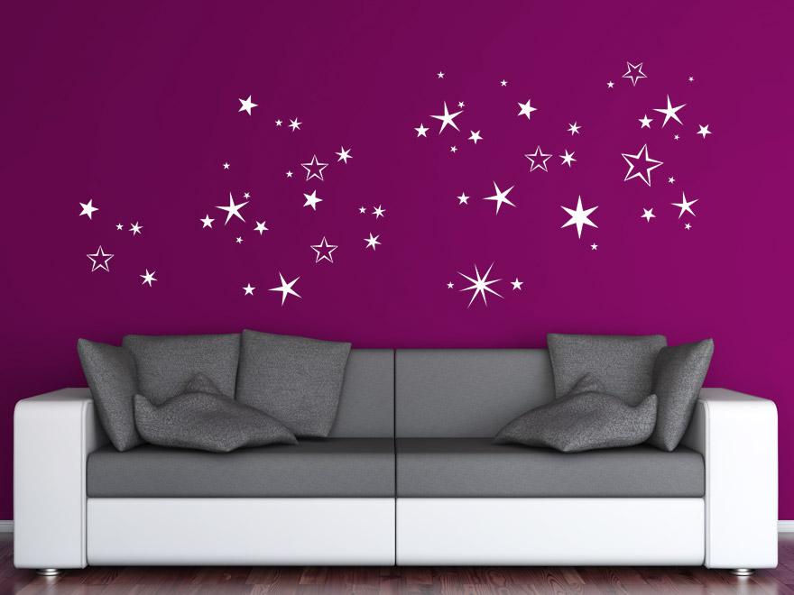 Weihnachten wandtattoo winterlicher sternenhimmel von for Sternenhimmel kinderzimmer