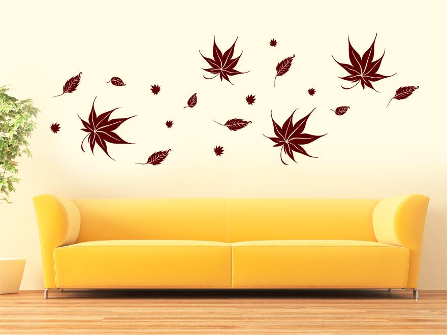 Herbst Wandtattoo Herbstblatter Von Wandtattoo Net
