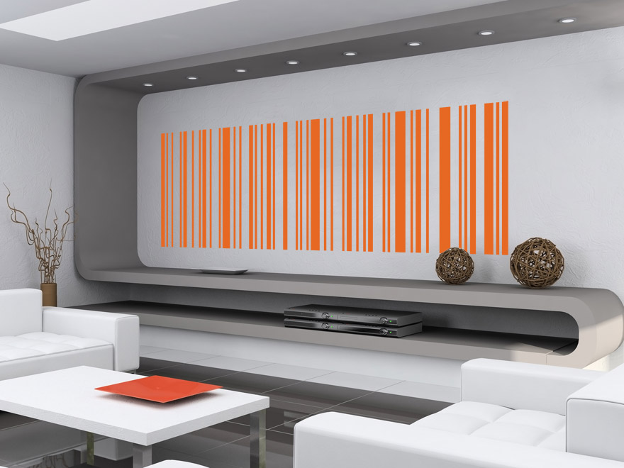 linien wandtattoo motiv barcode von. Black Bedroom Furniture Sets. Home Design Ideas