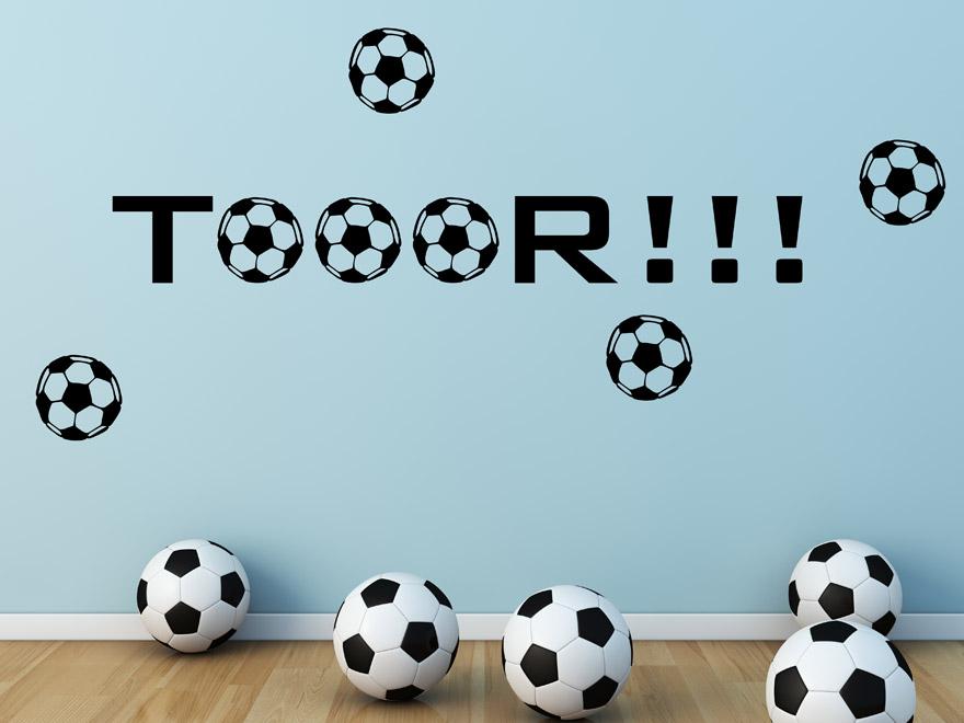 Wandtattoo Tor Wandtattoo Fußball Im Kinderzimmer ...