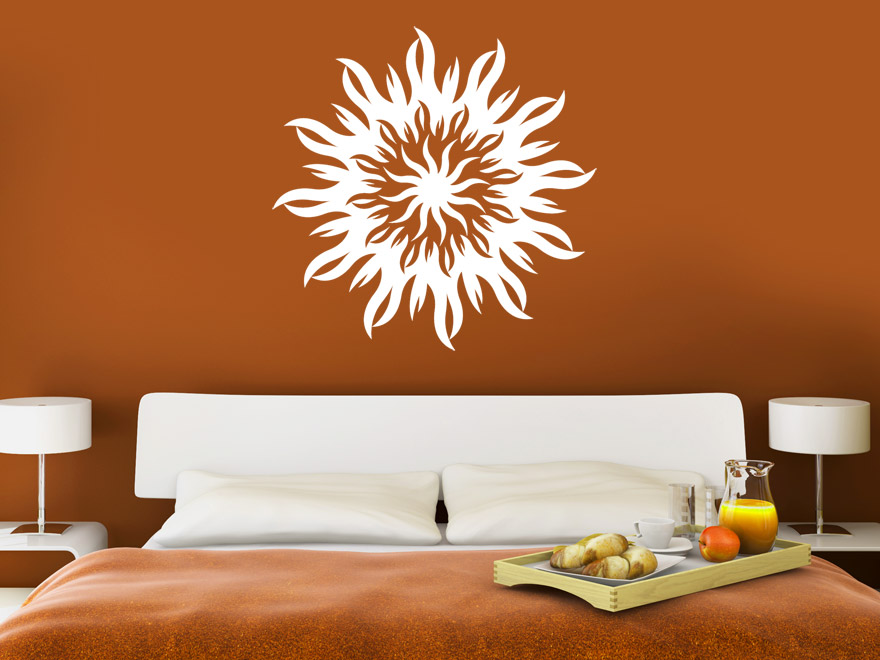 tribals wandtattoo tribal sonne von. Black Bedroom Furniture Sets. Home Design Ideas