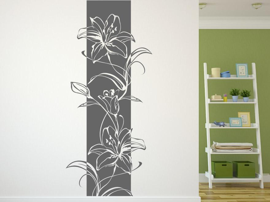 bl ten wandbanner lilien von. Black Bedroom Furniture Sets. Home Design Ideas