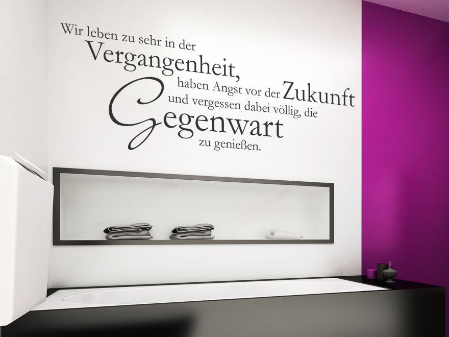wandtattoo wir leben zu sehr spruch von. Black Bedroom Furniture Sets. Home Design Ideas