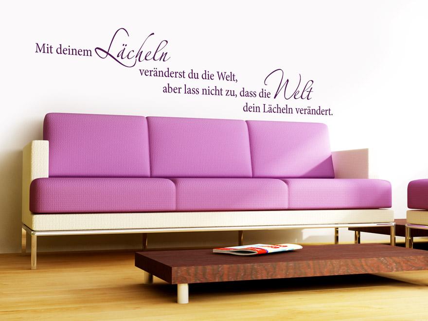 Wandtattoo Mit deinem Lächeln... Spruch von Wandtattoo.net