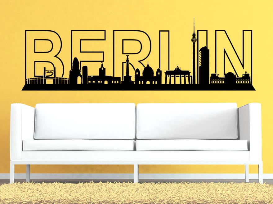 stadt wandtattoo berlin skyline von. Black Bedroom Furniture Sets. Home Design Ideas