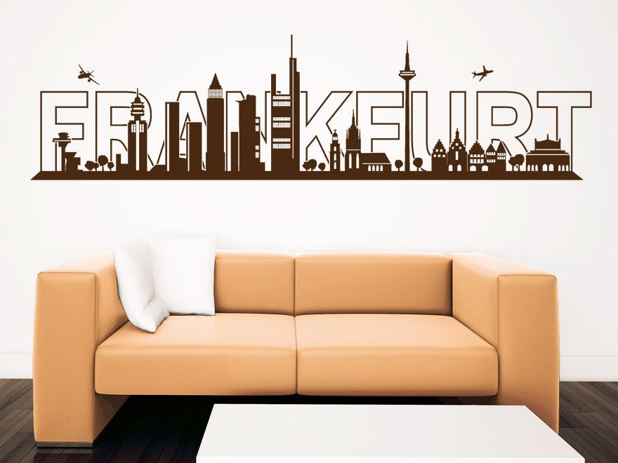 skyline wandtattoo frankfurt skyline von. Black Bedroom Furniture Sets. Home Design Ideas