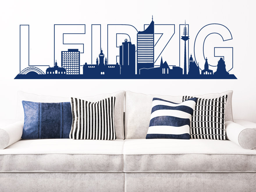 stadt wandtattoo leipzig skyline von. Black Bedroom Furniture Sets. Home Design Ideas