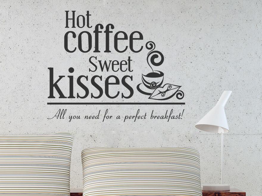 genussvolles wandtattoo hot coffee von. Black Bedroom Furniture Sets. Home Design Ideas