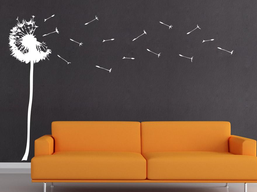 wandtattoo stilisierte pusteblume von. Black Bedroom Furniture Sets. Home Design Ideas