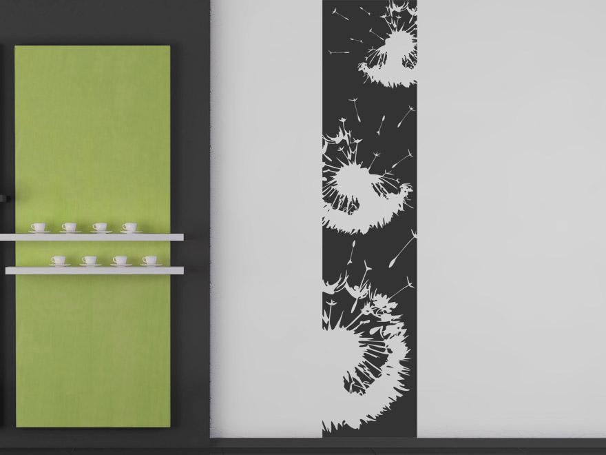 banner moderne pusteblumen wandbanner von. Black Bedroom Furniture Sets. Home Design Ideas