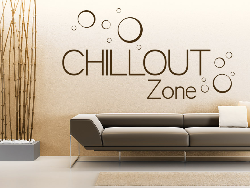 wandtattoo chillout zone von. Black Bedroom Furniture Sets. Home Design Ideas