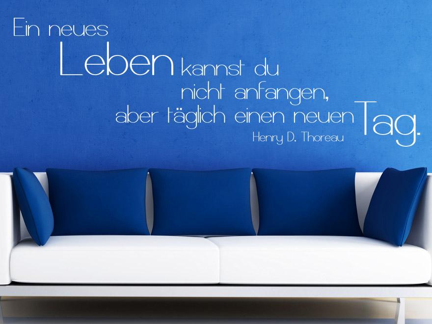 Motivierendes Wandtattoo Ein Neues Leben Zitat Thoreau