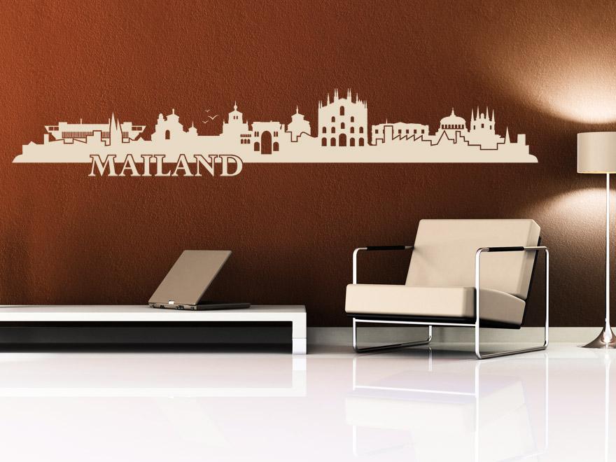 italien wandtattoo mailand skyline von. Black Bedroom Furniture Sets. Home Design Ideas