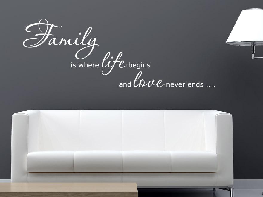 Englisches Wandtattoo Family is... von wandtattoo.net