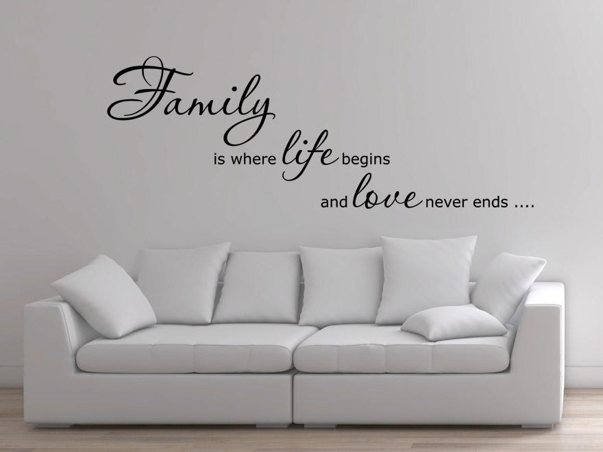 englisches wandtattoo family is von. Black Bedroom Furniture Sets. Home Design Ideas