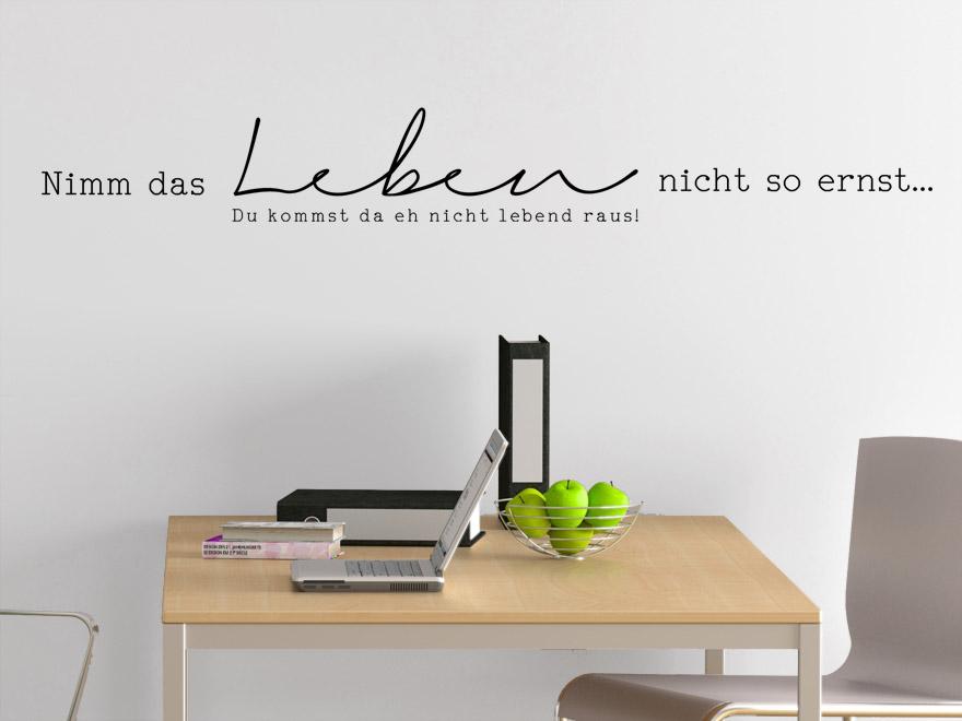lustiges wandtattoo das leben von. Black Bedroom Furniture Sets. Home Design Ideas