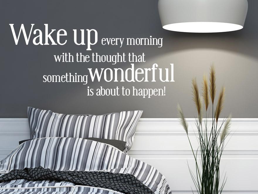 Lustiger Wandtattoo Spruch Wake Up Every Morning Englisch Von