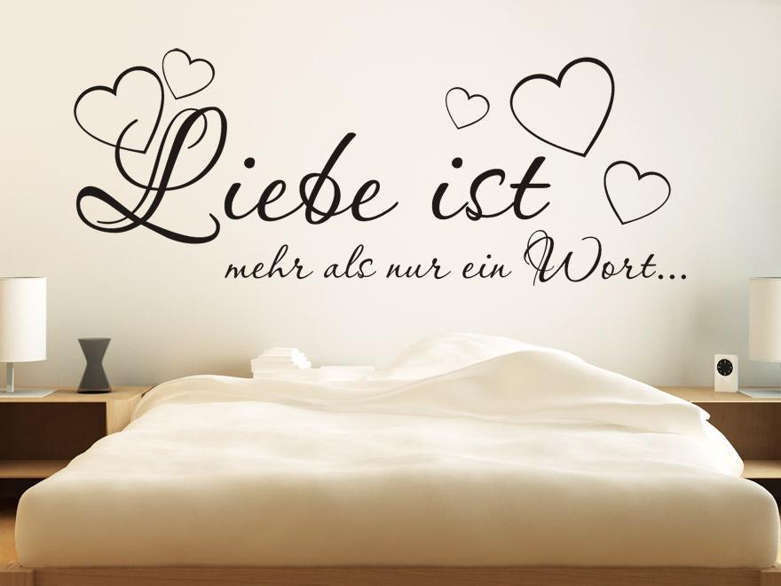 Wandtattoo Liebe ist mehr... Sprichwort von wandtattoo.net