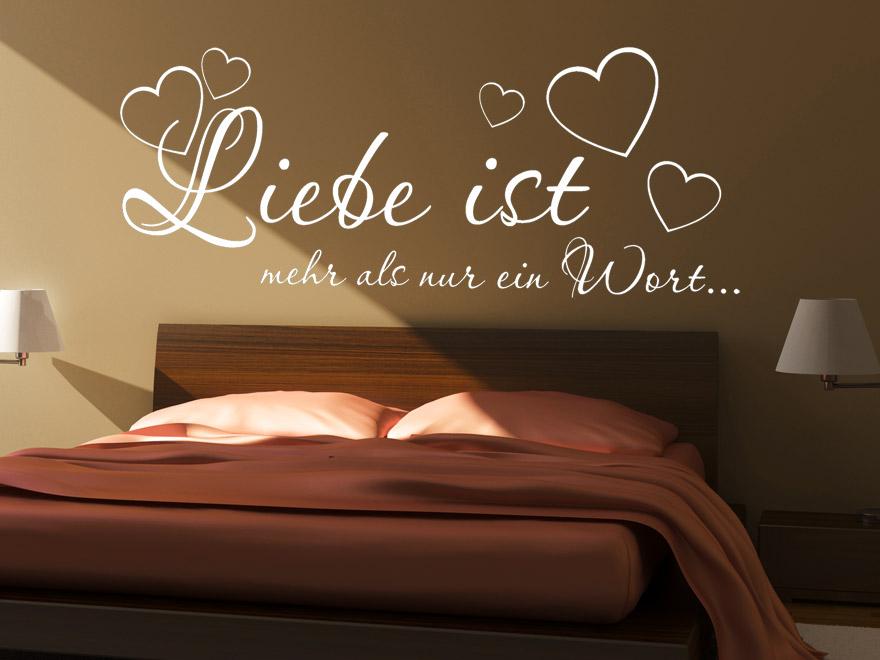 Wandtattoo Spruch Liebe ist mehr... als romantisches Hochzeitsgeschenk