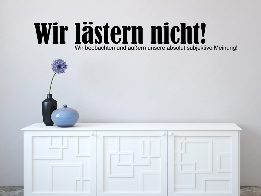 lustiges wandtattoo wir l stern nicht von. Black Bedroom Furniture Sets. Home Design Ideas