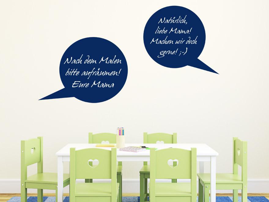tafelfolie sprechblasen tafelfolien von. Black Bedroom Furniture Sets. Home Design Ideas