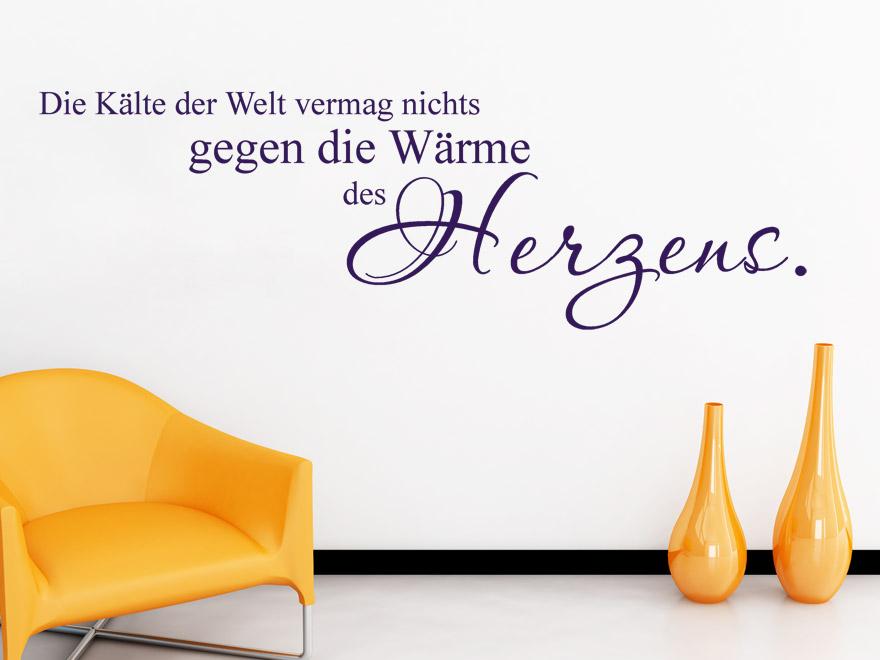 Wandtattoo Wärme des Herzens... Spruch Liebe von wandtattoo.net