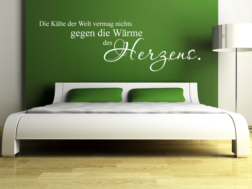 wandtattoo w rme des herzens spruch liebe von. Black Bedroom Furniture Sets. Home Design Ideas