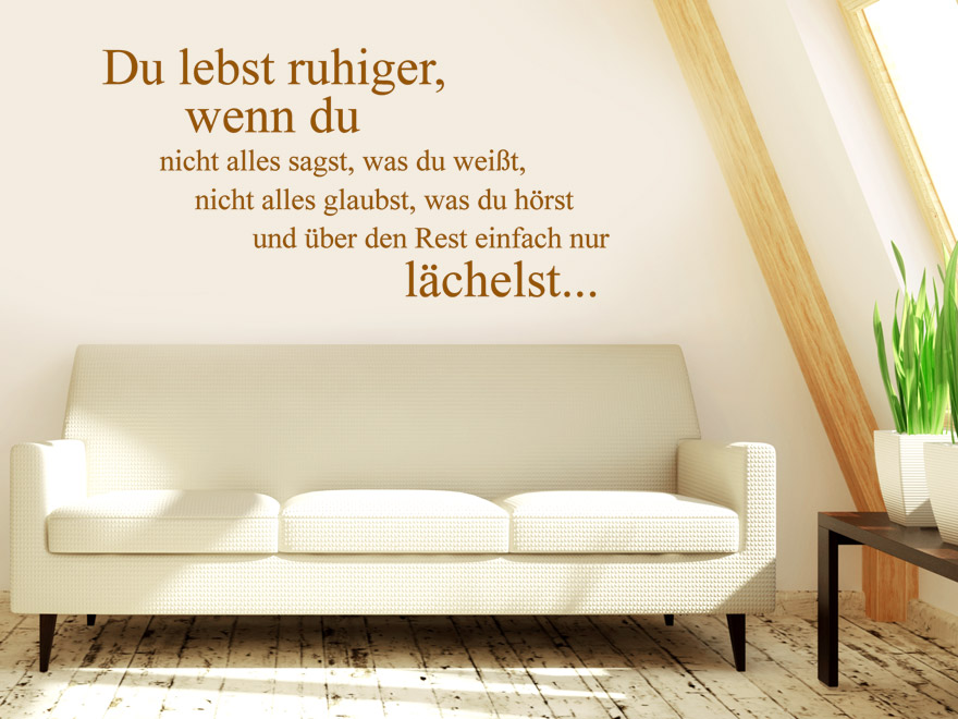 wandtattoo du lebst spruch von. Black Bedroom Furniture Sets. Home Design Ideas