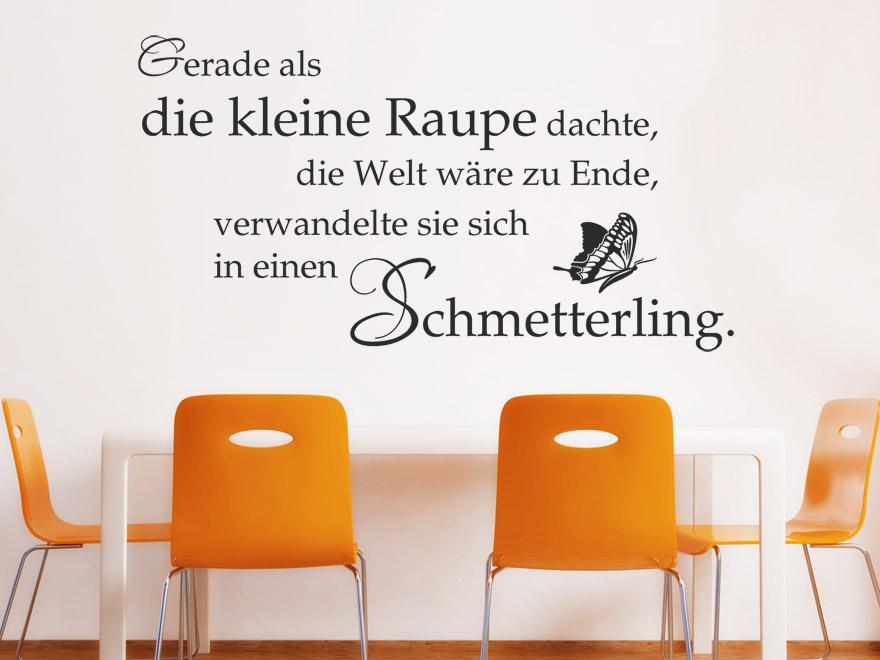 Sprichwort Wandtattoo Schmetterling Spruch von wandtattoo.net