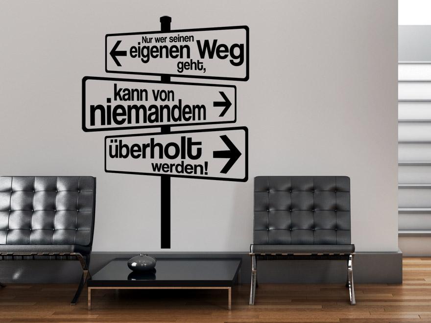 ... Sprichwort Wandtattoo Eigener Weg In Schwarz Im Flur