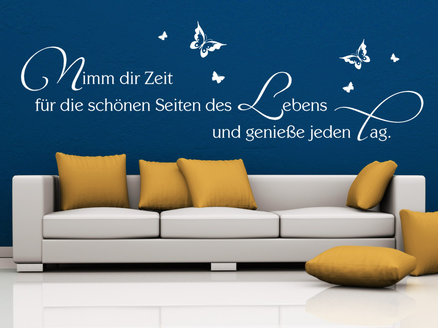wandtattoo die sch nen seiten des lebens spruch von. Black Bedroom Furniture Sets. Home Design Ideas