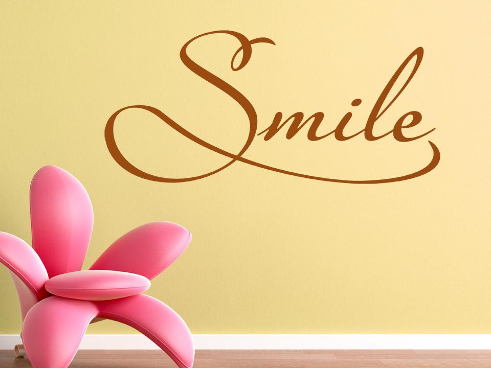 Wandtattoo Smile englisch von Wandtattoo.net
