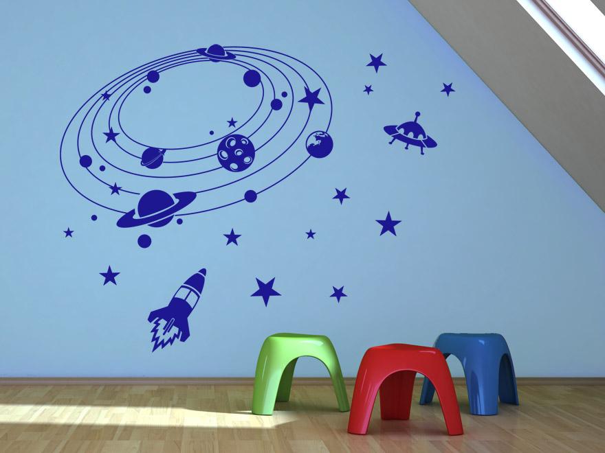 Wandtattoo kinderzimmer weltall reuniecollegenoetsele for Kinderzimmer weltall