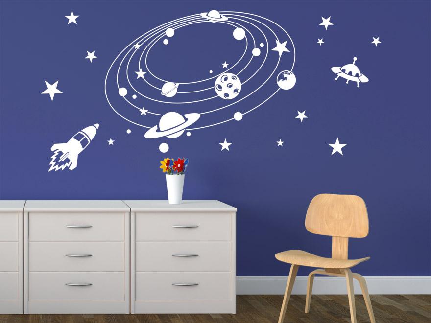 Wandtattoo kinderzimmer weltall die 25 besten ideen zu for Kinderzimmer weltall