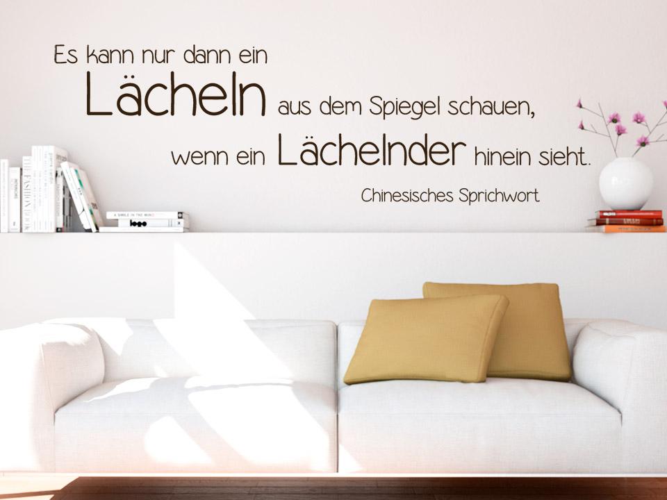 Elegant Elegant Wandtattoo Es Kann Nur Dann Ein Lcheln With Schne  Wandsprche With Wandtattoo Ber Bett